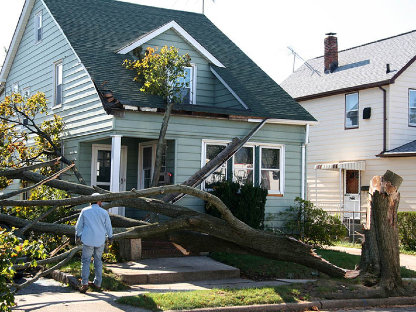 We'll help you get your life back in order with storm damage roof repair services